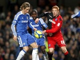 Fernando Torres and Dave Kitson