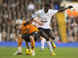 Emmanuel Adebayor and David Edwards