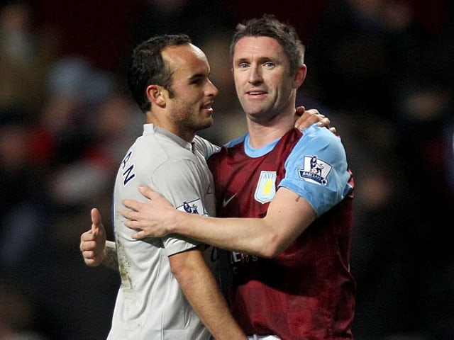 Robbie Keane and Landon Donovan