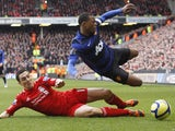 Patrice Evra and Stewart Downing