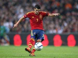 David Villa admitted to hospital