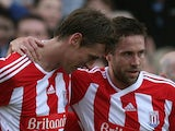 Peter Crouch and Matthew Upson