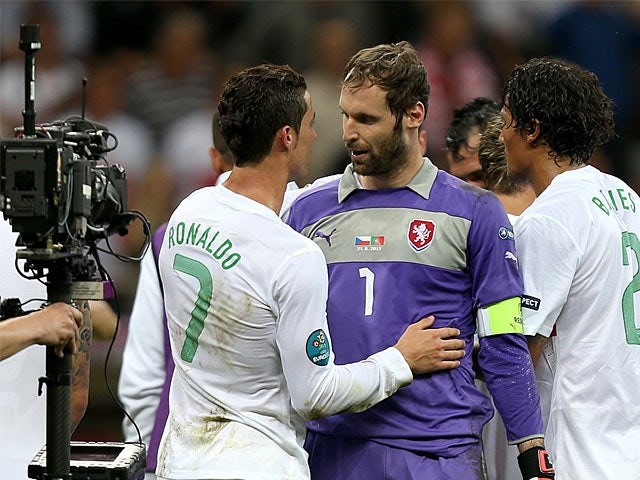 Cristiano Ronaldo, Petr Cech
