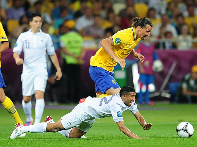 Zlatan Ibrahimovic, Gael Clichy