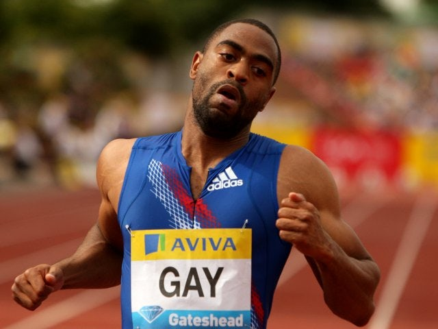 Gay tests positive for banned substance