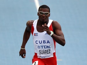 Suarez throws new javelin Olympic best