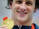 Ryan Lochte with his Beijing gold