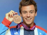 Tom Daley with his bronze medal