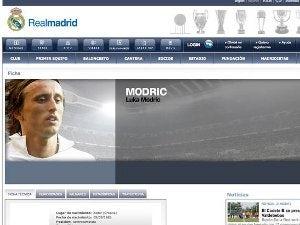 Madrid create Modric profile page