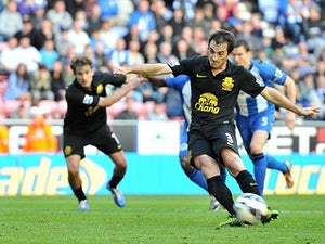 Result: Wigan 2-2 Everton