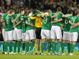 Ireland team facing Germany