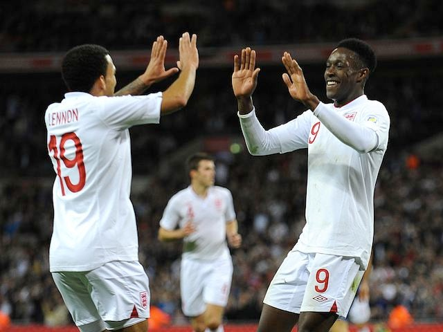 0dd0e30cb70 Danny Welbeck celebrates with Aaron Lennon - Sports Mole