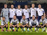 Scotland team facing Wales