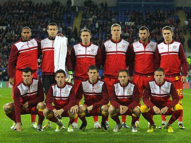 Wales team facing Scotland