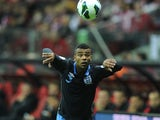 Ashley Cole taking a throw