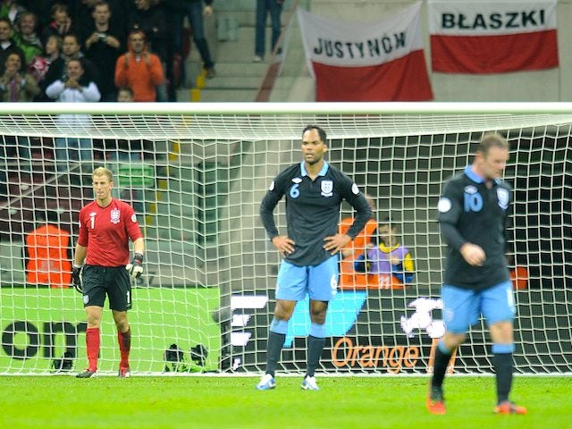 Joe Hart, Wayne Rooney and Joleon Lescott