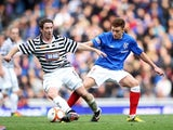 Rangers' Lewis MacLeod and Queen's Park's Paul Gallagher