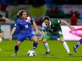 Luka Modric of Croatia and Andy King of Wales