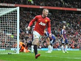 Wayne Rooney scores for United