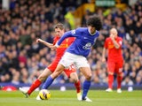 Marouane Fellaini and Joe Allen