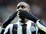 Demba Ba celebrates scoring the opener