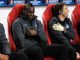 Mario Balotelli on the bench for City