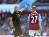 Joe Bennett sees red for Aston Villa