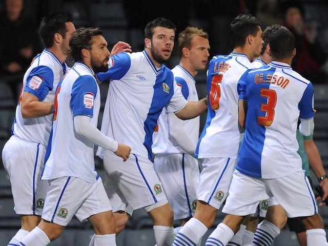 Blackburn players celebrate