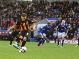 Barnet's Mark Byrne scores from the penalty spot