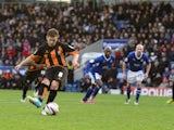 Barnet's Mark Byrne scores from the penalty spot