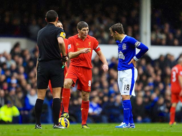 Steven Gerrard lays down the law to Phil Neville