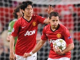 Javier Hernandez scores for United