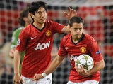 Javier Hernandez scores for United