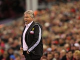Anzhi Makhachkala manager Guus Hiddink on the touchline