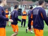 Liverpool training on October 24, 2012