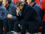 An upset Roberto Mancini