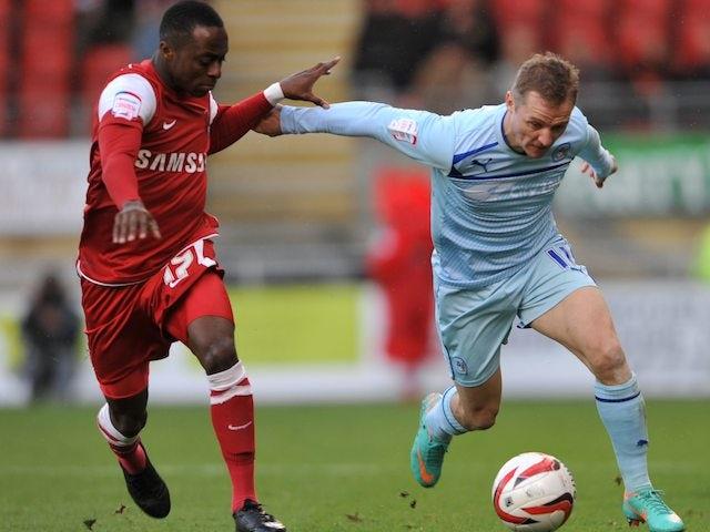 Coventry City's Gary McSheffrey and Leyton Orient's Moses Odubajo