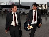 Eoin Morgan and Alastair Cook depart for India