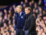 David Moyes and Brendan Rodgers on the touchline