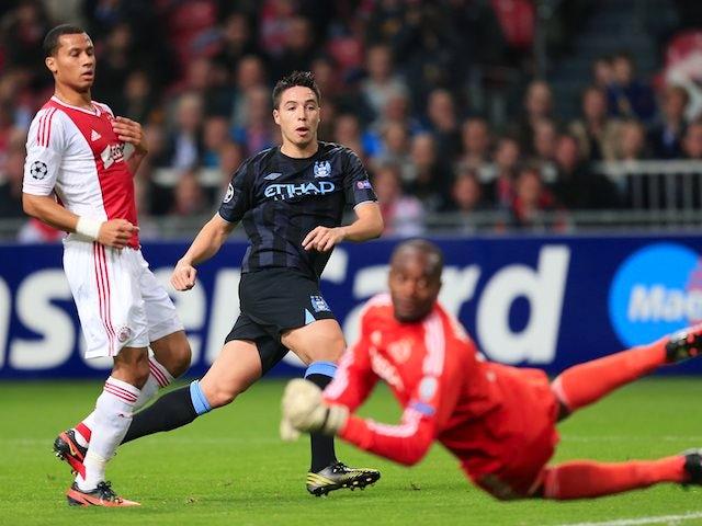 Samir Nasri scores City's first