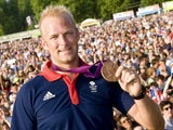Alex Partridge with his medal
