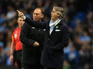 Mancini pleased with Man City reaction