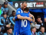 Shaun Maloney and Ivan Ramis celebrate