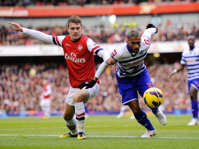 Armand Traore and Aaron Ramsey