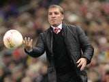 Brendan Rodgers throws the ball back into play