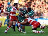 Manu Tuilagi is tackled