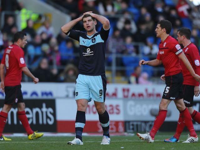 Burnley's Sam Vokes looking dejected