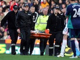 Stoke's Marc Wilson is stretchered off