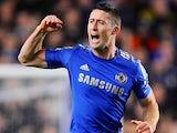 Gary Cahill celebrates scoring Chelsea's second