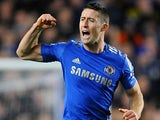 Gary Cahill celebrates scoring Chelsea's second